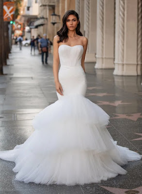 Pronovias Mermaid with gown butter Sweetheart Neckline Bridal Dress