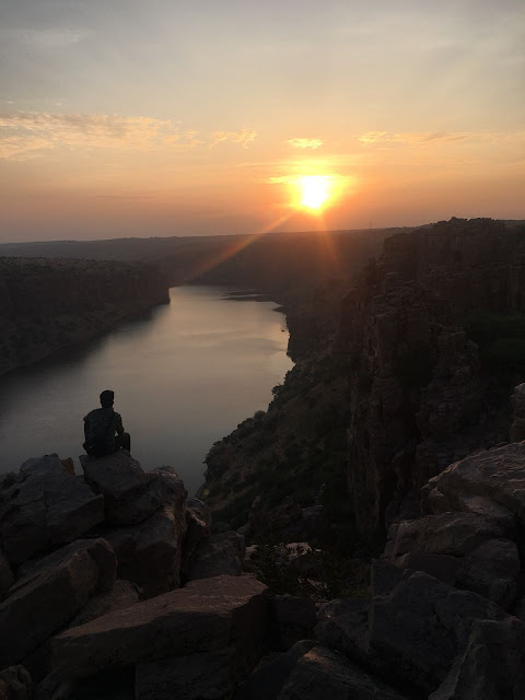 Penna river view from Gandikota during Sun raise