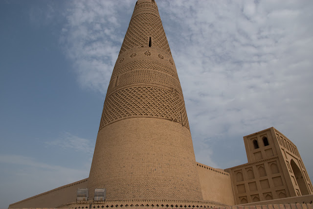 Minaret tower of the Emin Minaret Mosque, Turpan, Xinjiang
