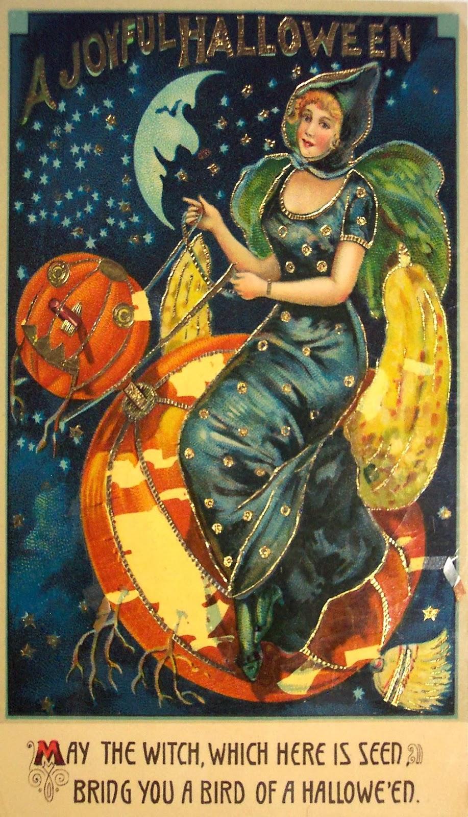 vintage halloween witch postcards c 1900�s vintage
