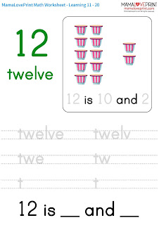 Mama Love Print Math Worksheet Free Download