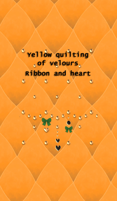 Yellow quilting of velours(Ribbon,heart)
