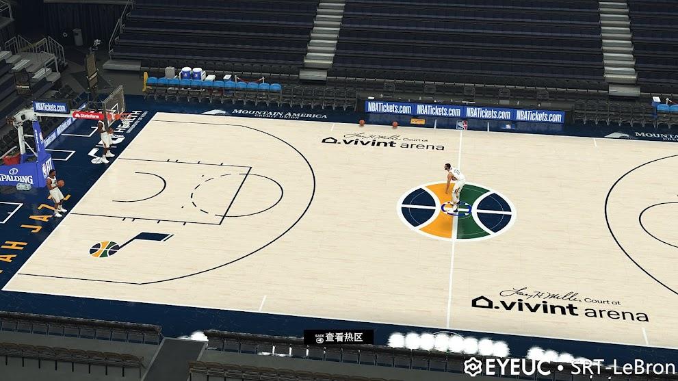 NBA 2K21 Utah Jazz  Updated Primary Court V1.4 by SRT-LEbron [FOR 2K21]