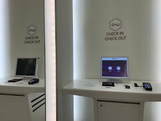 YOTEL self-service check in machine