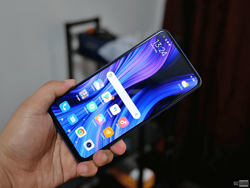 Redmi Note 9 punch-hole screen