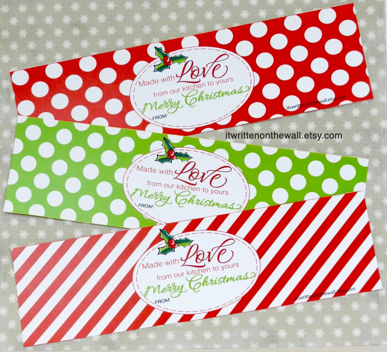 it s written on the wall christmas tags for your homemade christmas
