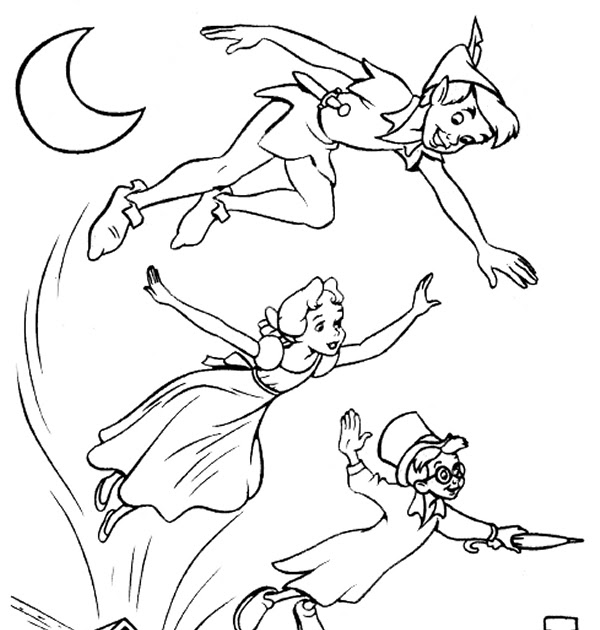 Coloring Pages Online: Peter Pan Coloring Pages