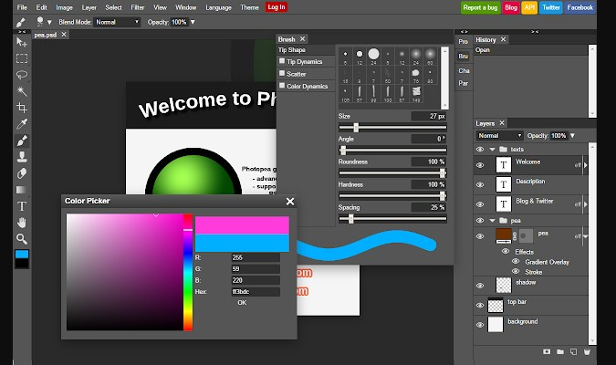 Alternatif Adobe Photoshop Online - Photopea
