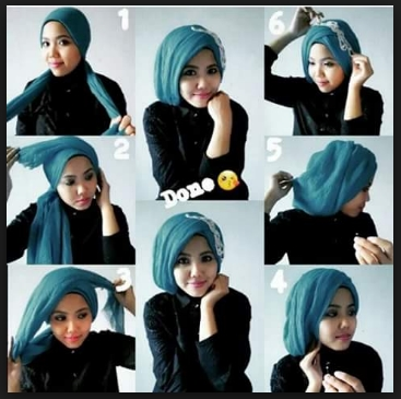 Tutorial jilbab pesta pashmina simpel glamour