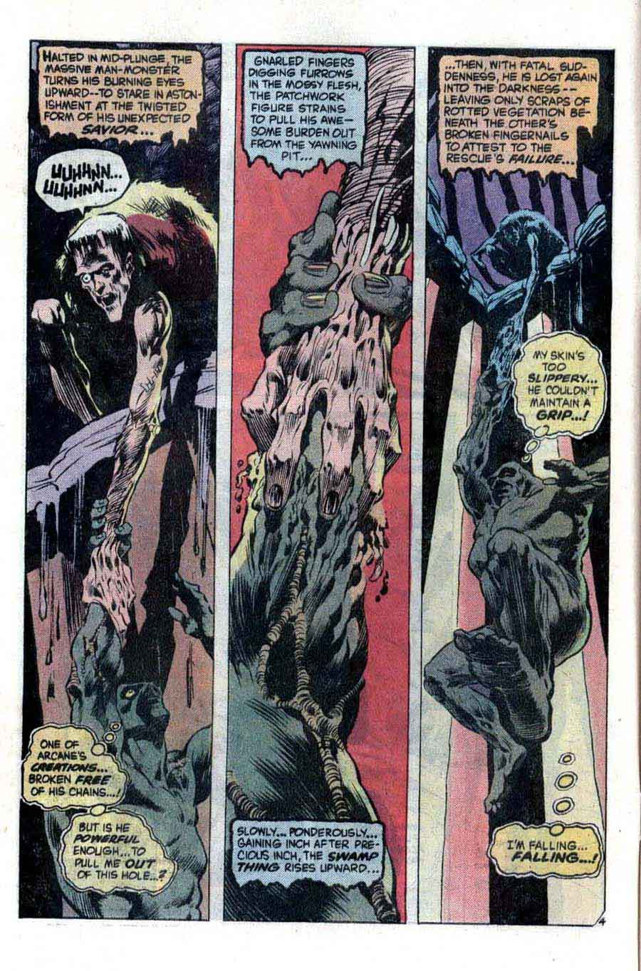 Swamp Thing v1 #3 1970s bronze age dc comic book page art by Bernie Wrightson