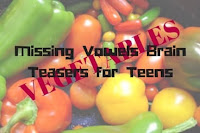 Missing Vowels Brain Teasers for Teens with Answers-Vegetables