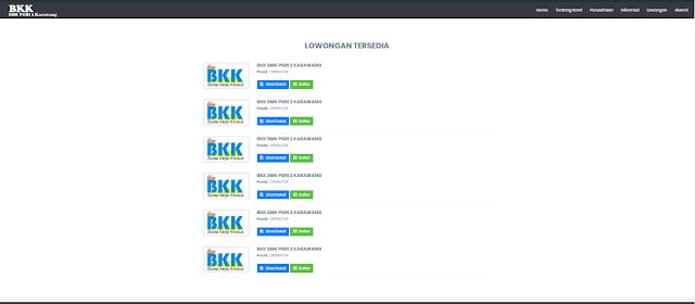 Langkah pertama membuka situs BKK