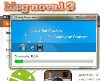 proses download instagrille