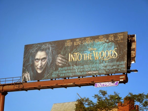 Disney Into the Woods movie billboard