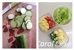 Carol 自在生活 : 檸檬油醋蔬果沙拉