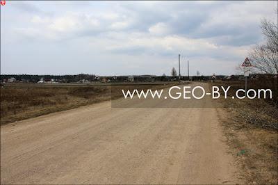 Железнодорожный переезд у деревни Шаметово