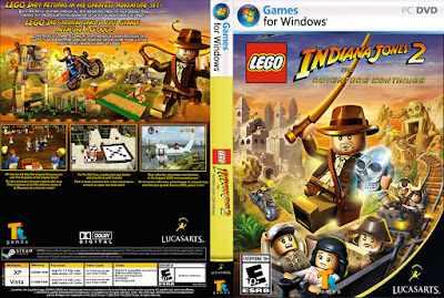 Jogo LEGO Indiana Jones 2 - The Adventure Continues PC DVD Capa
