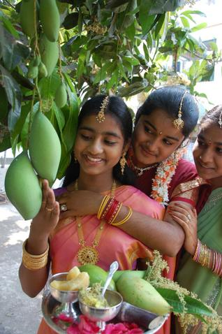 Ugadi Wallpaper, Mango, Ugadi Pachadi, Indian Traditional Girls