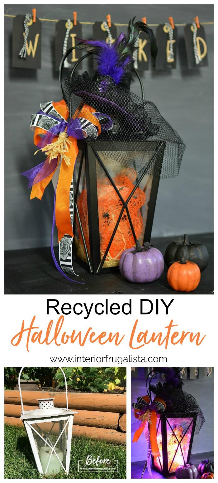 Budget-Friendly Recycled DIY Halloween Lantern