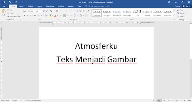 Cara Mengubah Teks menjadi Gambar pada Microsoft Word