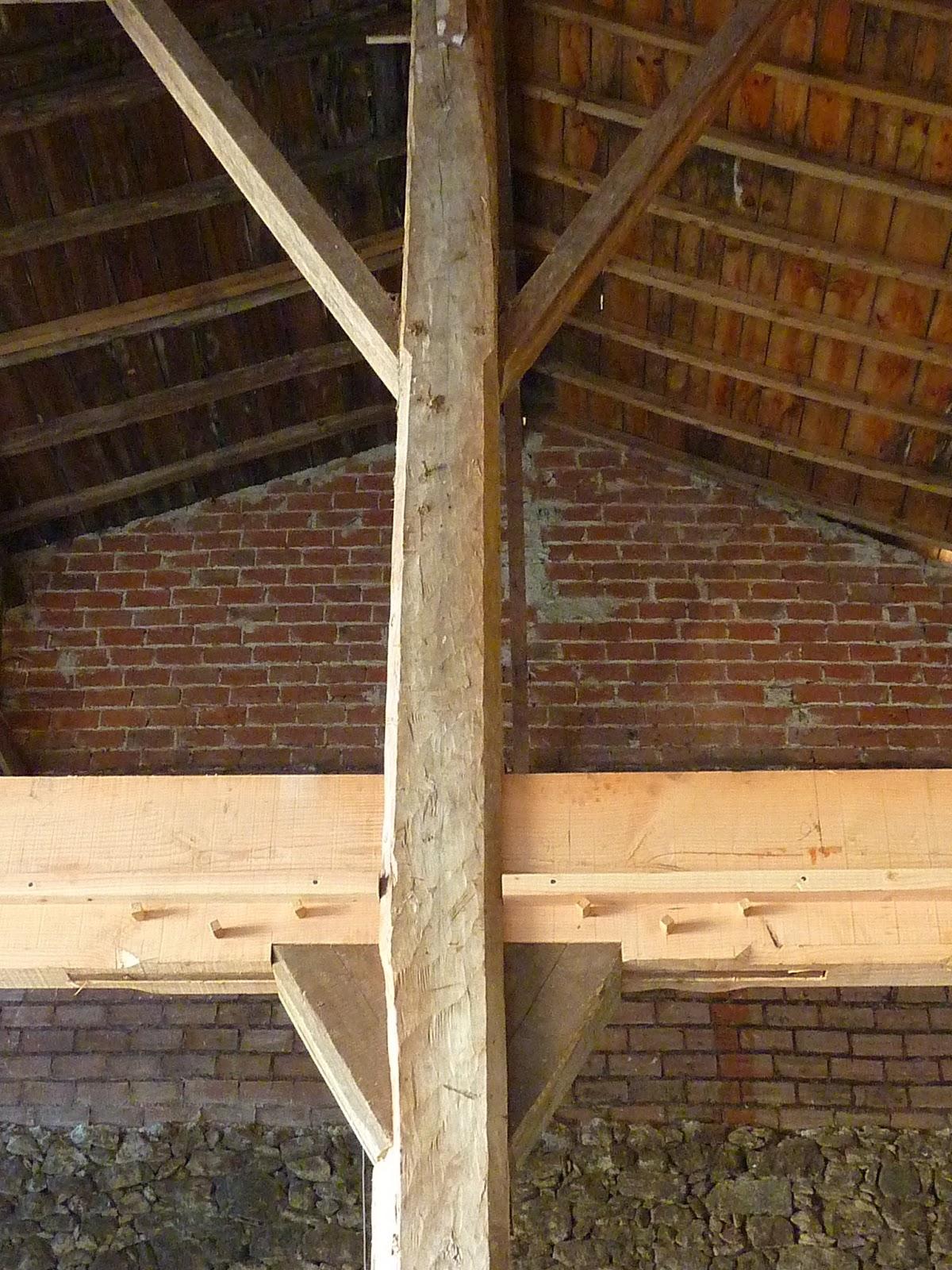 Notre Grange Macarienne Cr Ation Des Planchers # Plancher De Grange Ancien