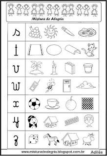 Atividade com alfabeto-letra inicial