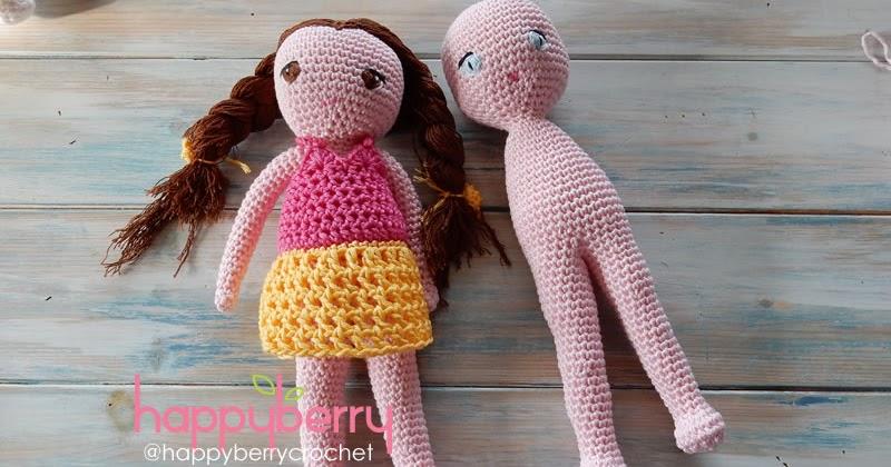 Amigurumi Doll Body : Happy Berry Crochet: Crochet Amigurumi Doll CAL - Ep2 Body ...