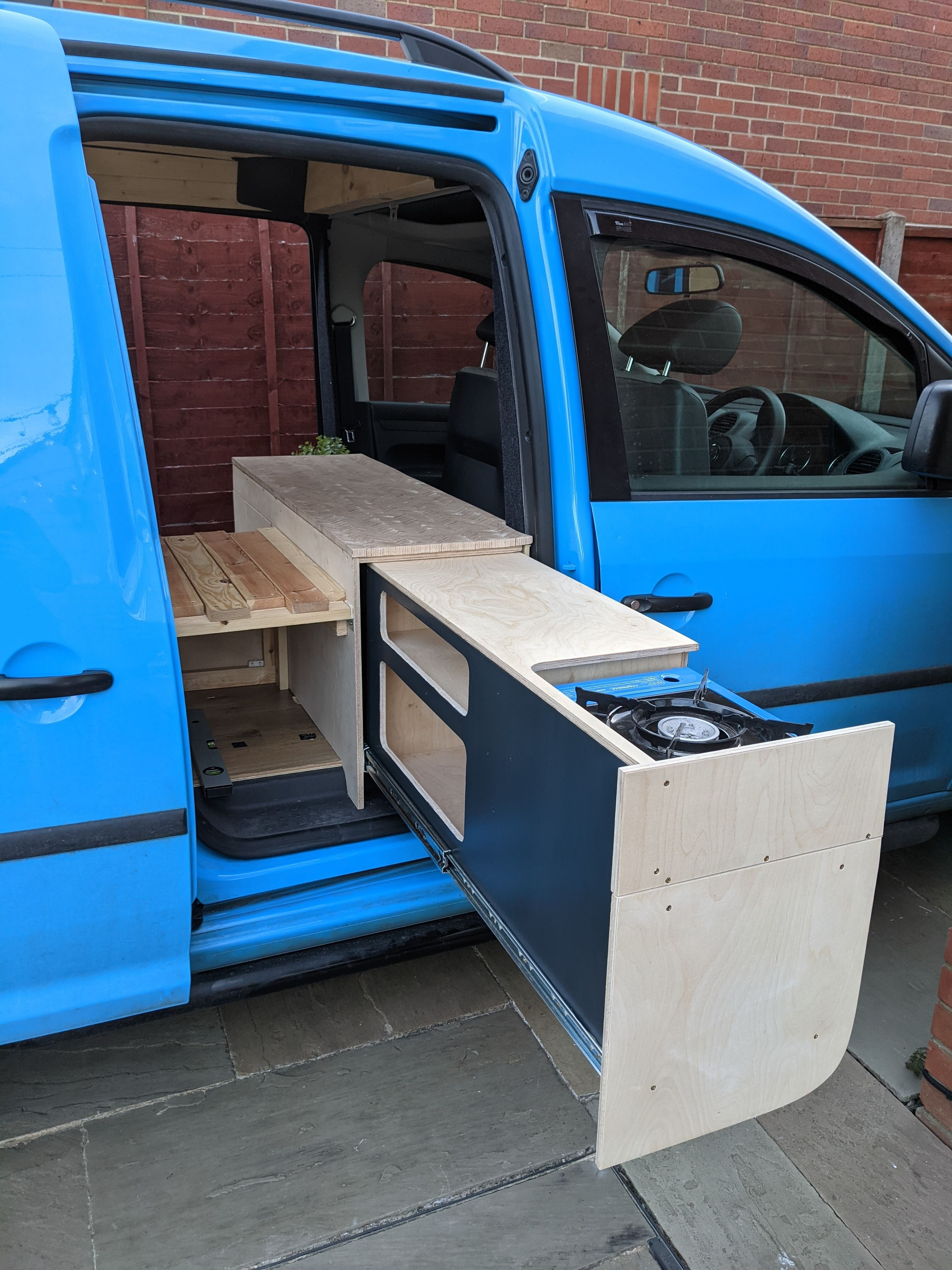 Pull out campervan kitchen