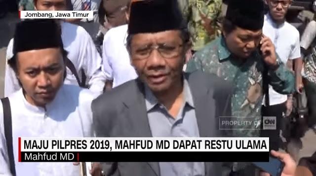 Mahfud MD Bersedia Jadi Cawapres Jokowi