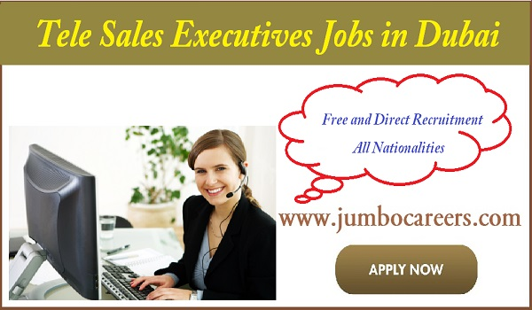 Tele sales executive jobs description, Latest husband visa jobs in Dubai,