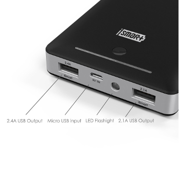 RAVPower 16000mAh External Battery Pack Power Bank with iSmart Technology 4.5 amp output