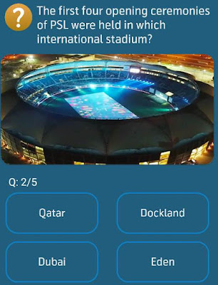 The first four opening ceremonies of PSL were held in which international stadium?