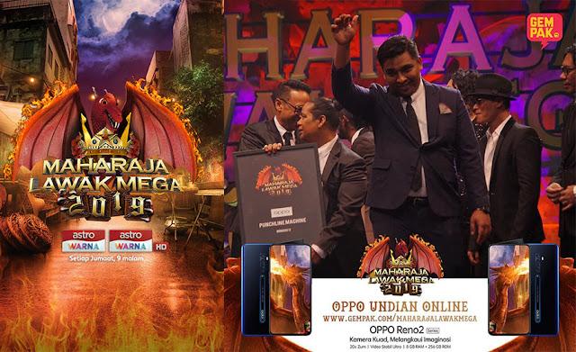 Puteh Mengetepikan Pelawak Lain Dan Menjulang Juara Maharaja Lawak Mega 2019