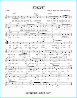chord stardust lagu jazz standar