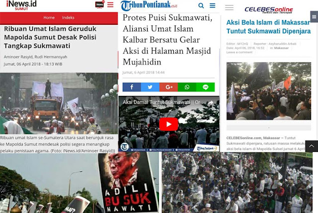 GONCANG INDONESIA! Aksi Bela Islam TUNTUT Penjarakan Sukmawati Digelar di Berbagai Kota