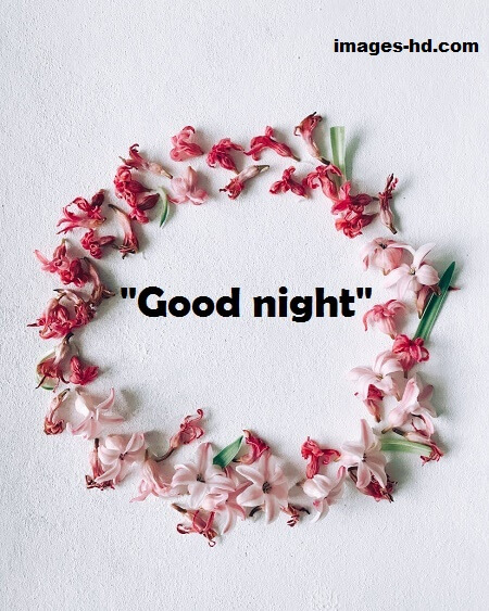 good night images, good night images with flowers