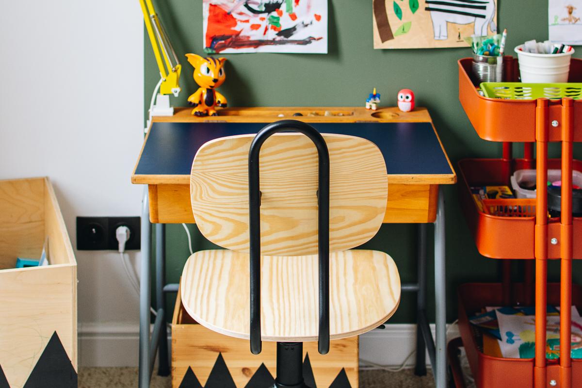 Biurka vintage w pokoju dzieci