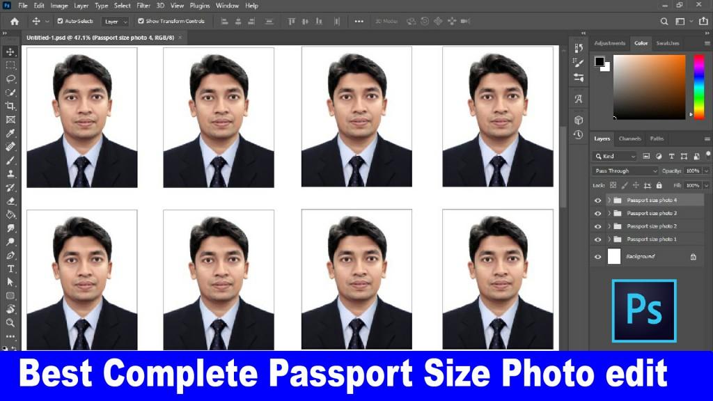 complete passport size photo