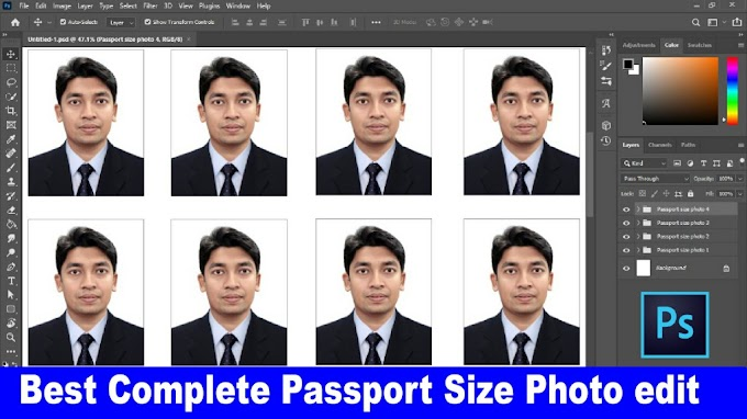How To Create a Complete Passport Size Photo in Photoshop