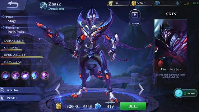 Zhask, Hero Baru Mobile Legends yang Mempunyai 4 Skill