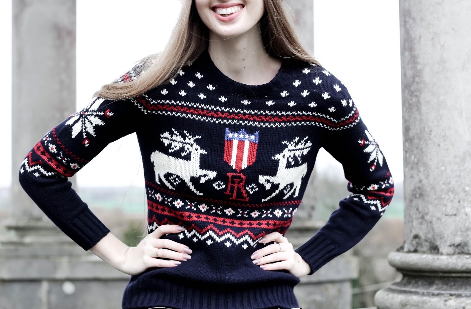 Ralph Lauren Womens Reindeer Christmas Jumper