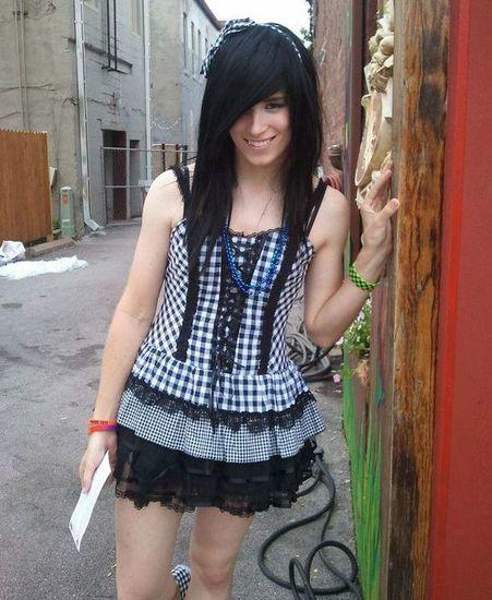 crossdresser in miniskirt