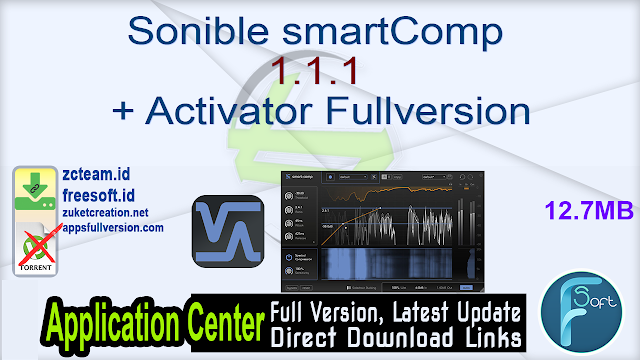 Sonible smartComp 1.1.1 + Activator Fullversion