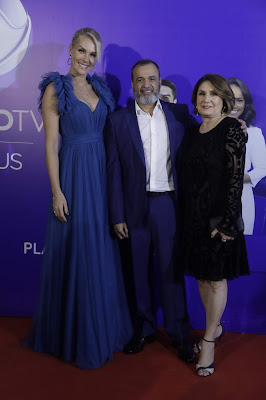 Ana Hickmann, Marcelo Silva e sua esposa Luiza Helena Loureiro - Foto: Antonio Chahestian/Divulgação Record TV