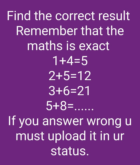 Find The Correct Result - 1 + 4 = 5