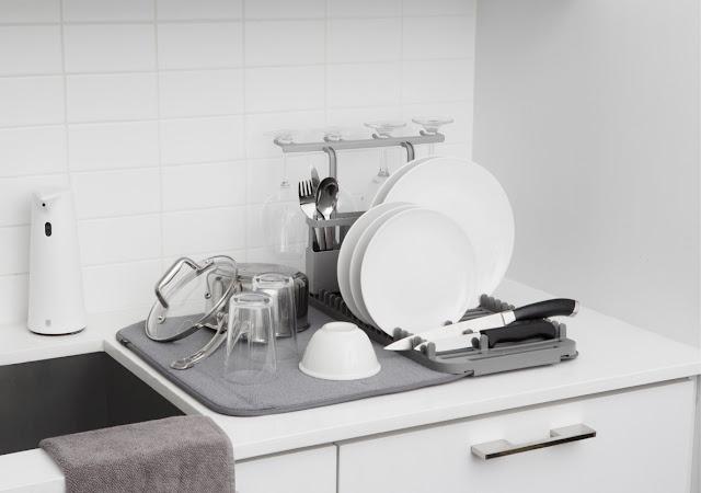 Poręczne suszarki na naczynia