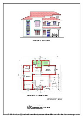 House plans with photos of 4BHK 2400 sqft home   penting ayo di share