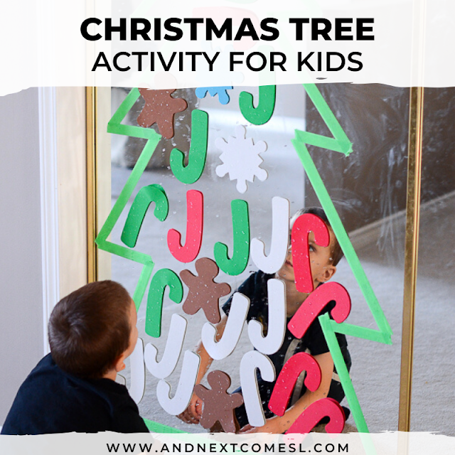 Christmas tree activity for kids to decorate again and again