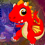 Games4King Red Fire Dragon Escape