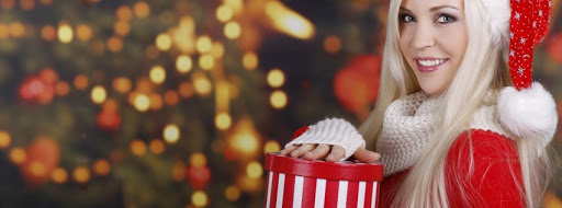 Merry Christmas Girl Facebook Covers